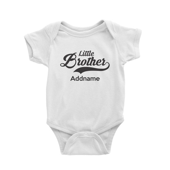 Retro Little Brother Addname Baby Romper