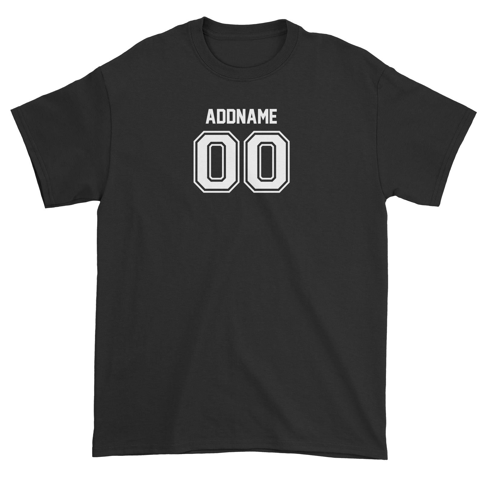 Custom Adults Jersey Font With Name and Number Unisex T-Shirt