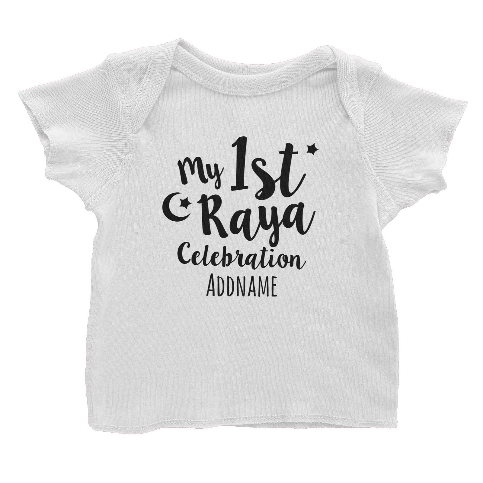My 1st Raya Celebration Baby T-Shirt  Personalizable Designs Raya Text