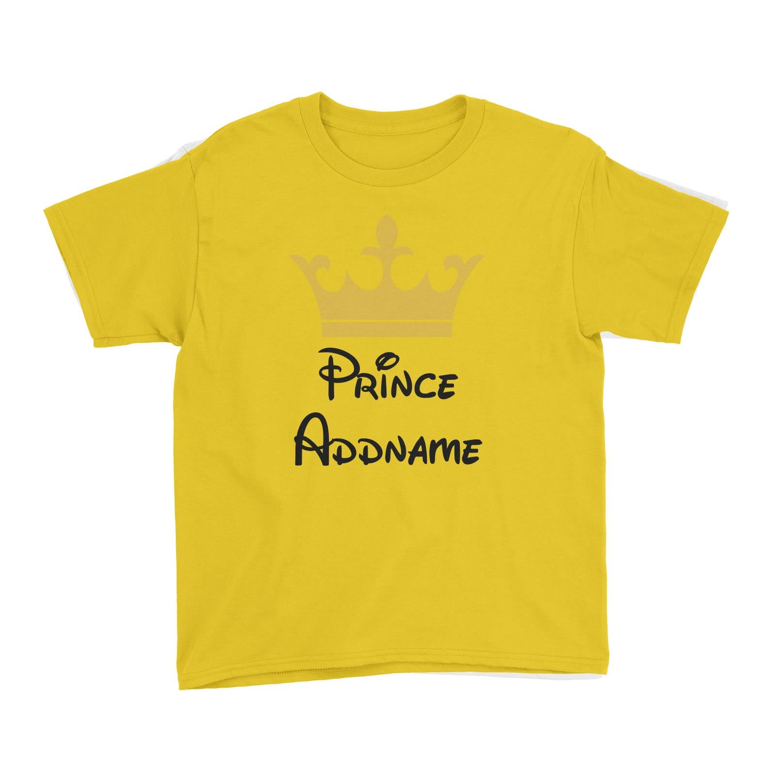 Royal Prince with Crown Addname Kid's T-Shirt