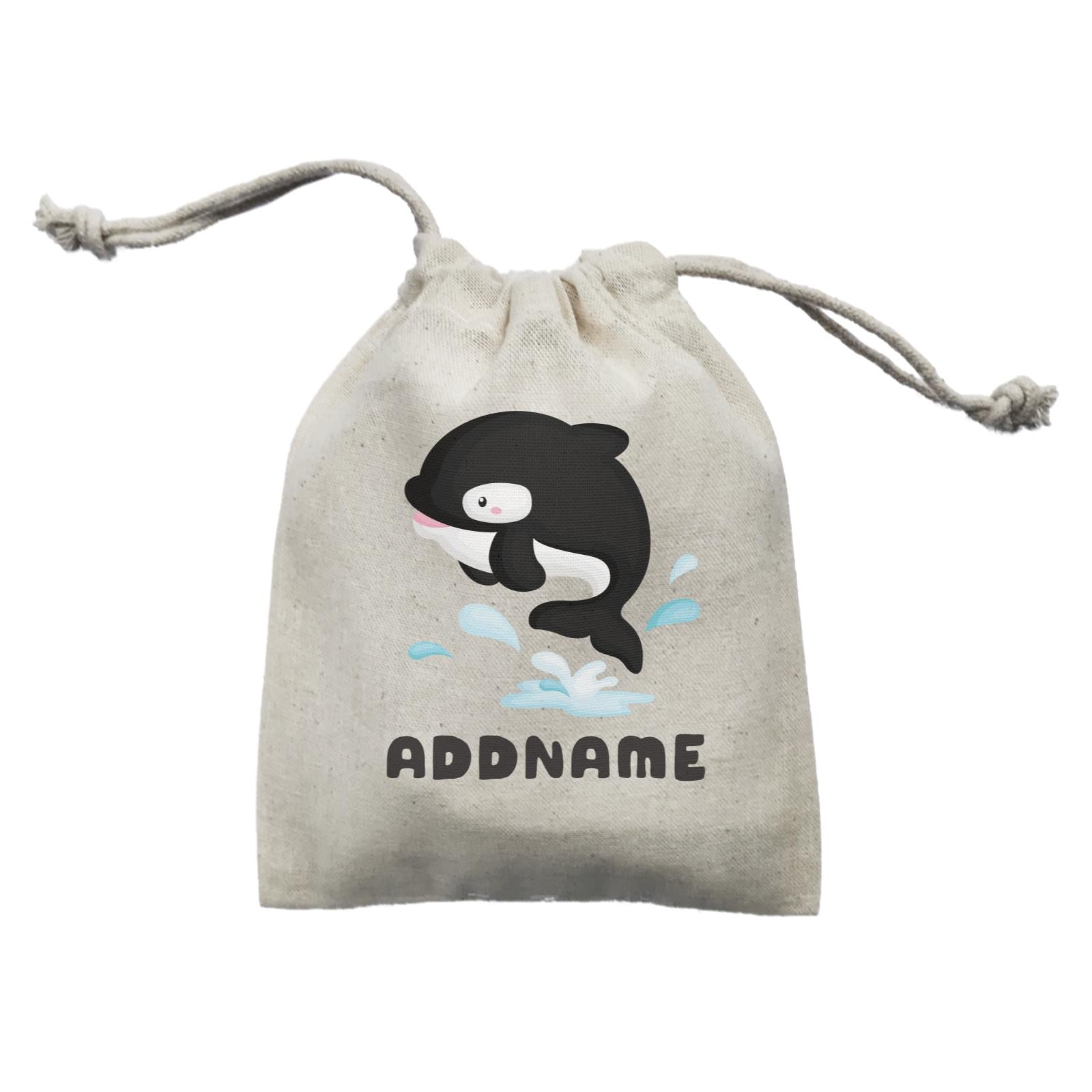 Birthday Winter Animals Orca Addname Mini Accessories Mini Pouch