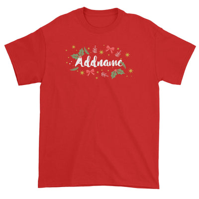 Christmas Elements Addname Unisex T-Shirt  Personalizable Designs Lettering Matching Family