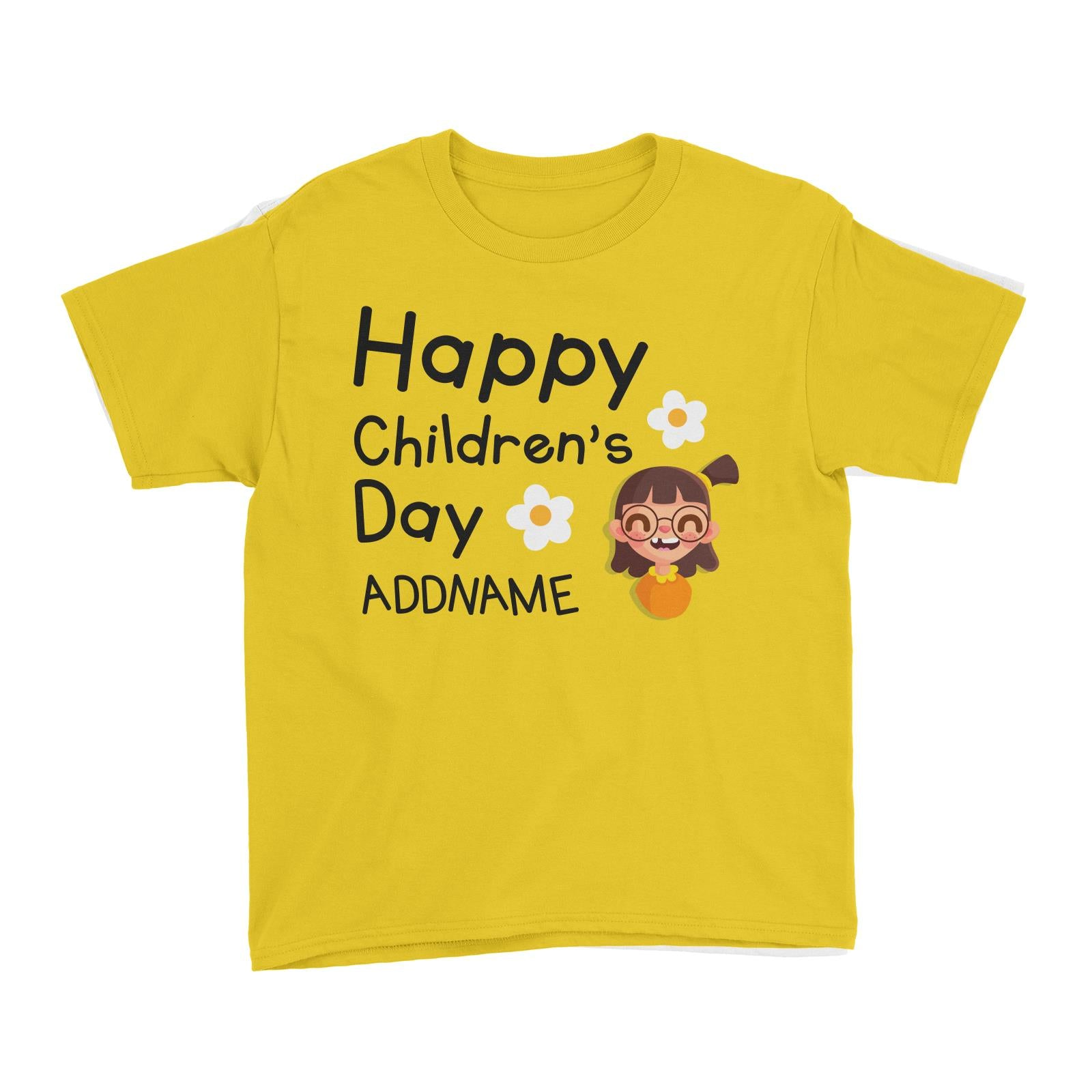Children's Day Gift Series Happy Children's Day Cute Girl Addname Kid's T-Shirt