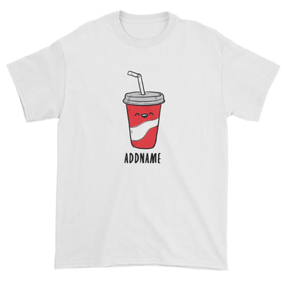 Fast Food Coke Addname Unisex T-Shirt  Comic Cartoon Matching Family Personalizable Designs