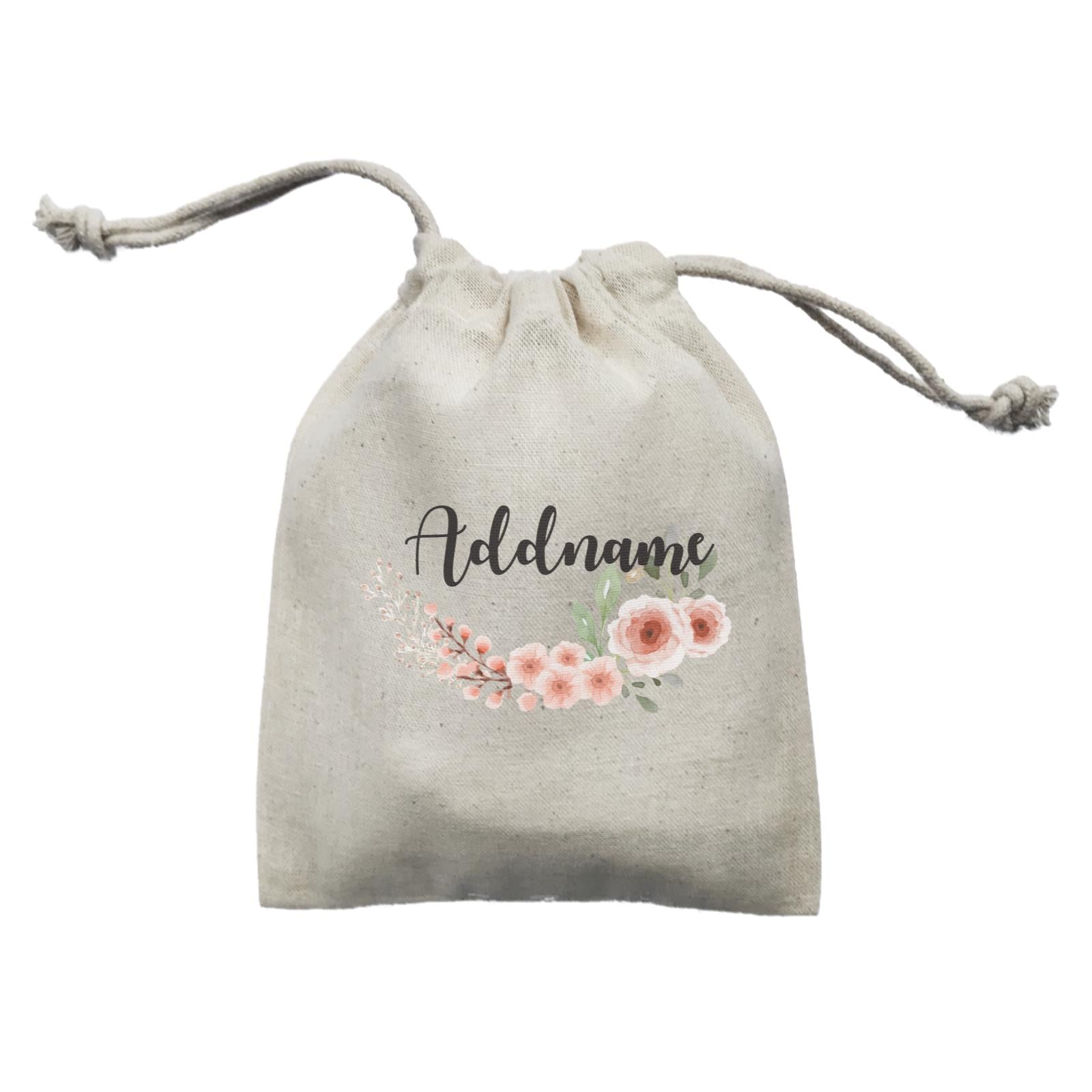 Bridesmaid Floral Sweet 2 Watercolour Flowers Addname Mini Accessories Mini Pouch