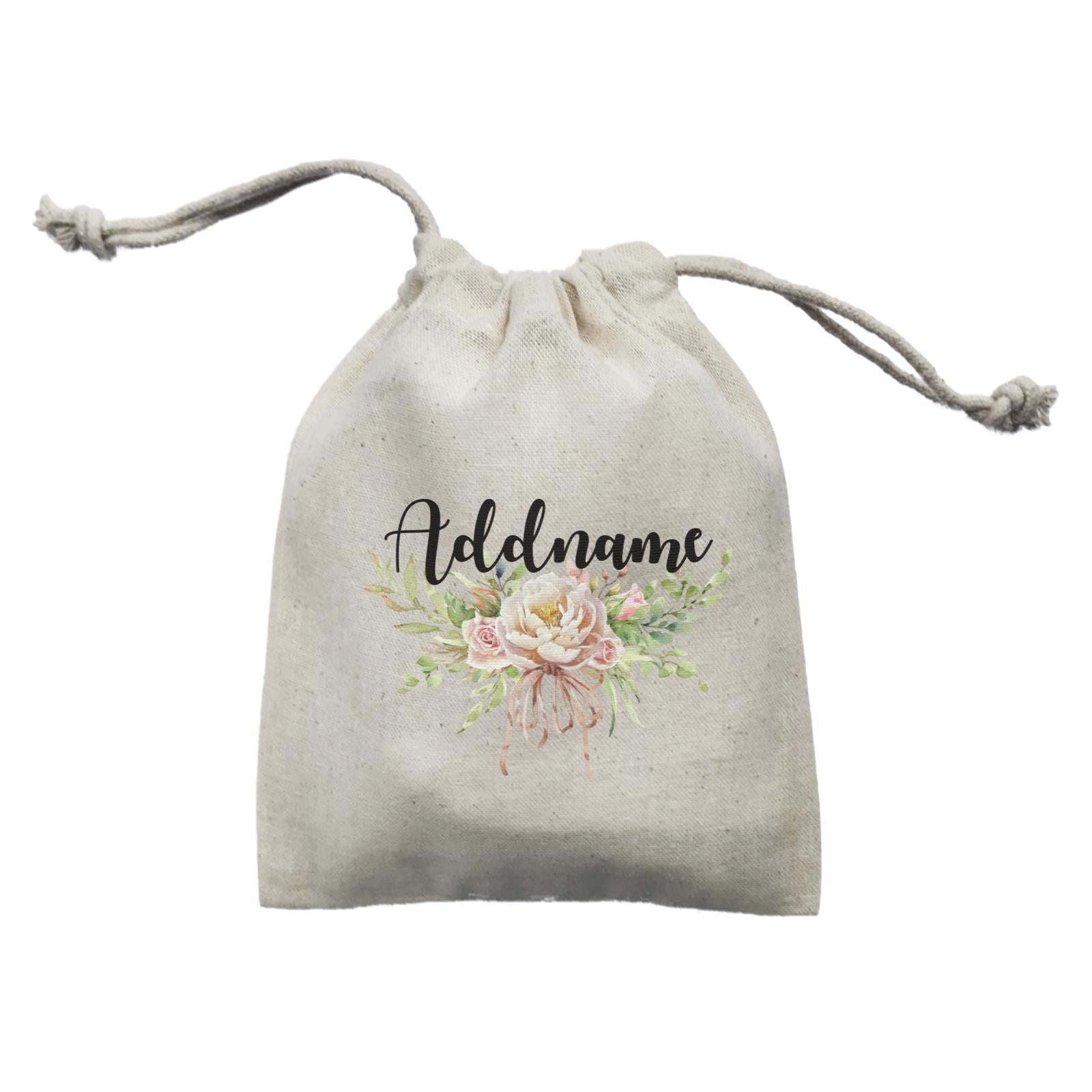 Bridesmaid Floral Sweet 2 Watercolour Big Flower Addname Mini Accessories Mini Pouch