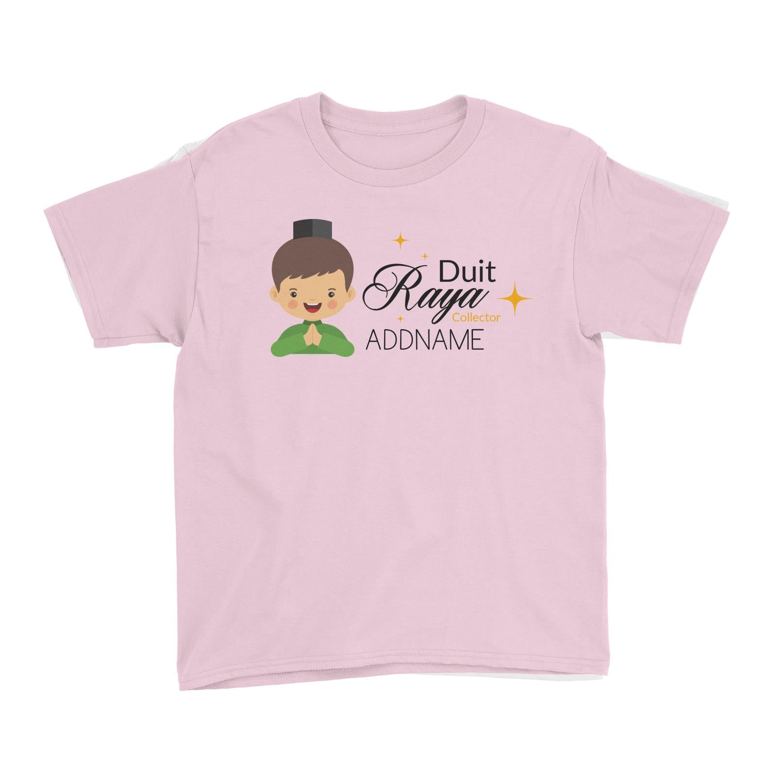 Duit Raya Collector Man Kid's T-Shirt  Personalizable Designs Sweet Character