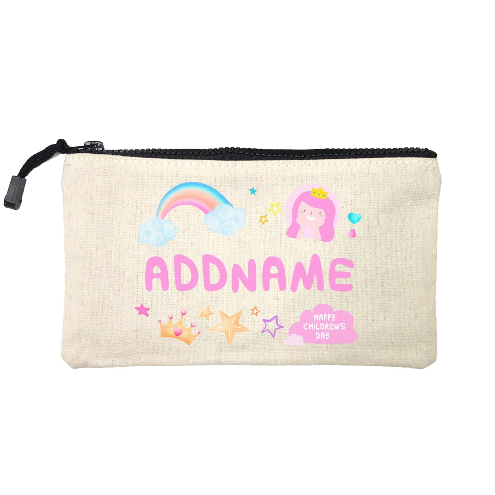 Children's Day Gift Series Cute Pink Girl Princess Rainbow Addname SP Stationery Pouch