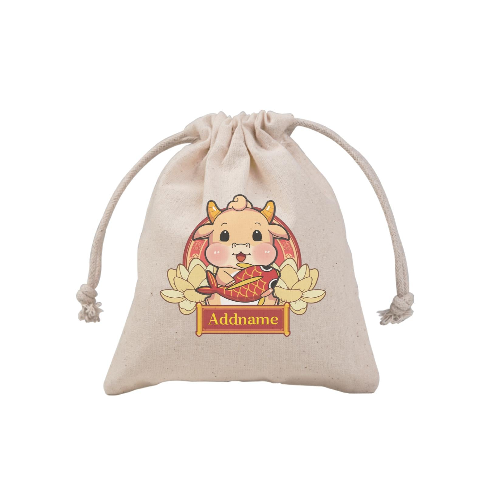 [CNY 2021] Gold Lotus Series Golden Cow with Koi Fish MP Mini Pouch