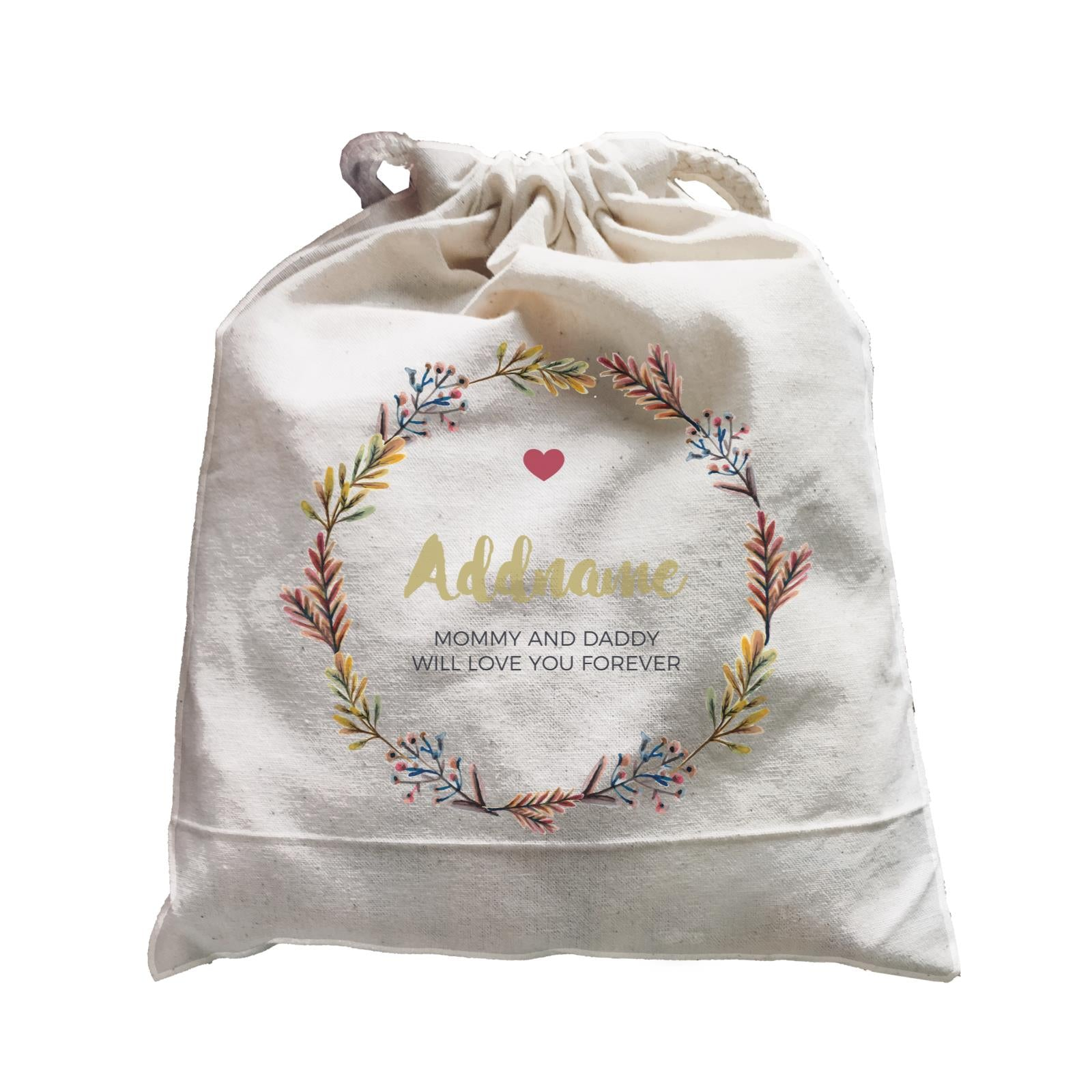 Autumn Colours Wreath Personalizable with Name and Text Satchel