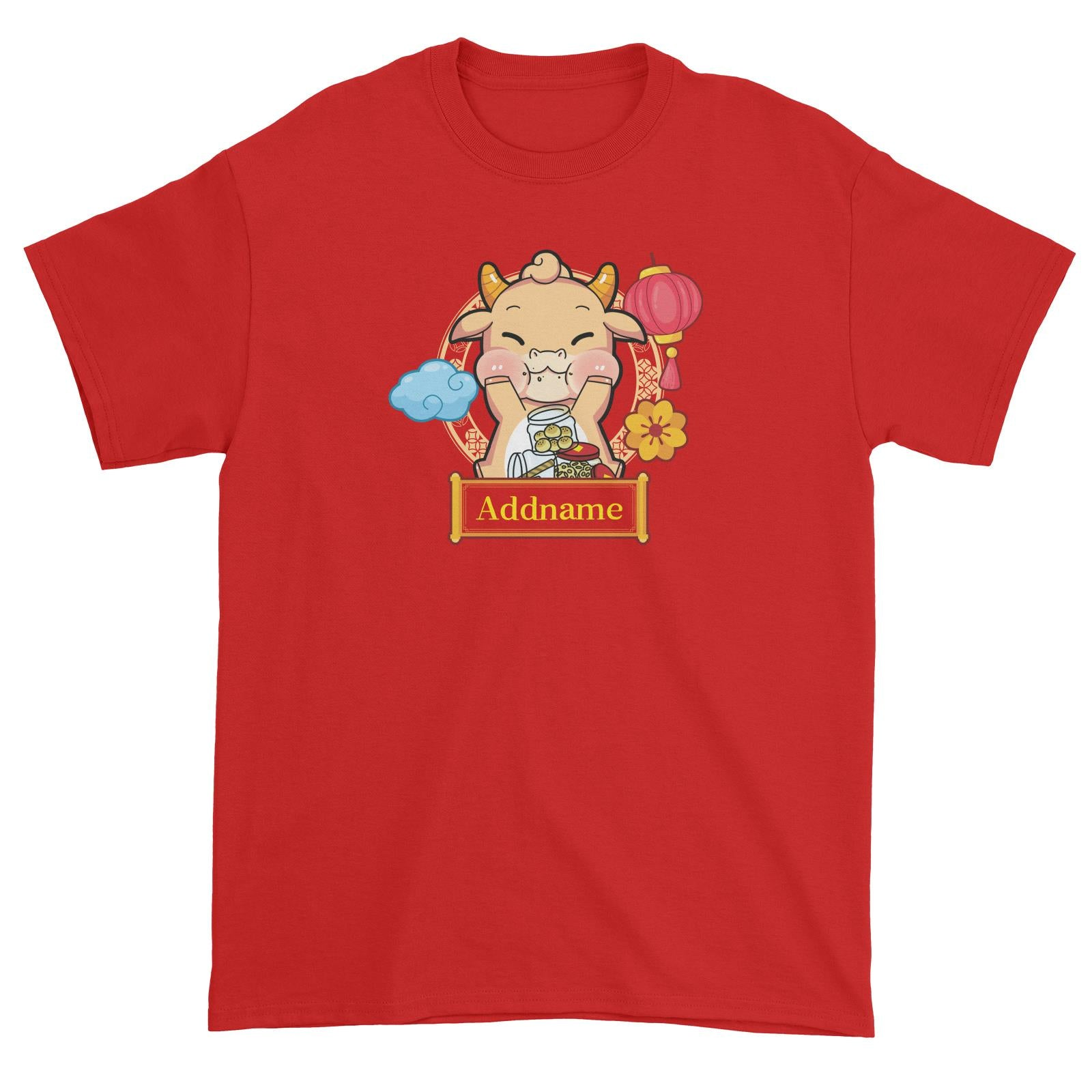 [CNY 2021] Golden Cow with New Year Treats Unisex T-Shirt