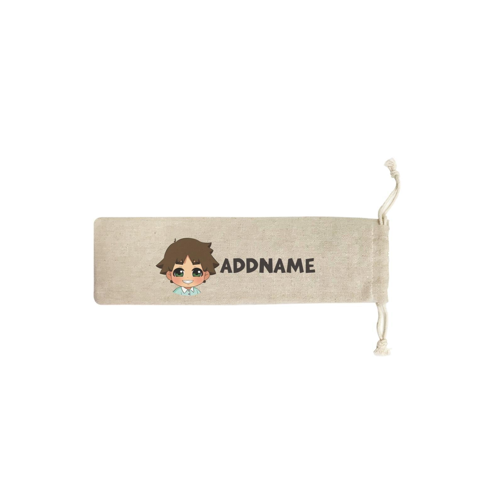 Children's Day Gift Series Little Boy Addname SB Straw Pouch (No Straws included)