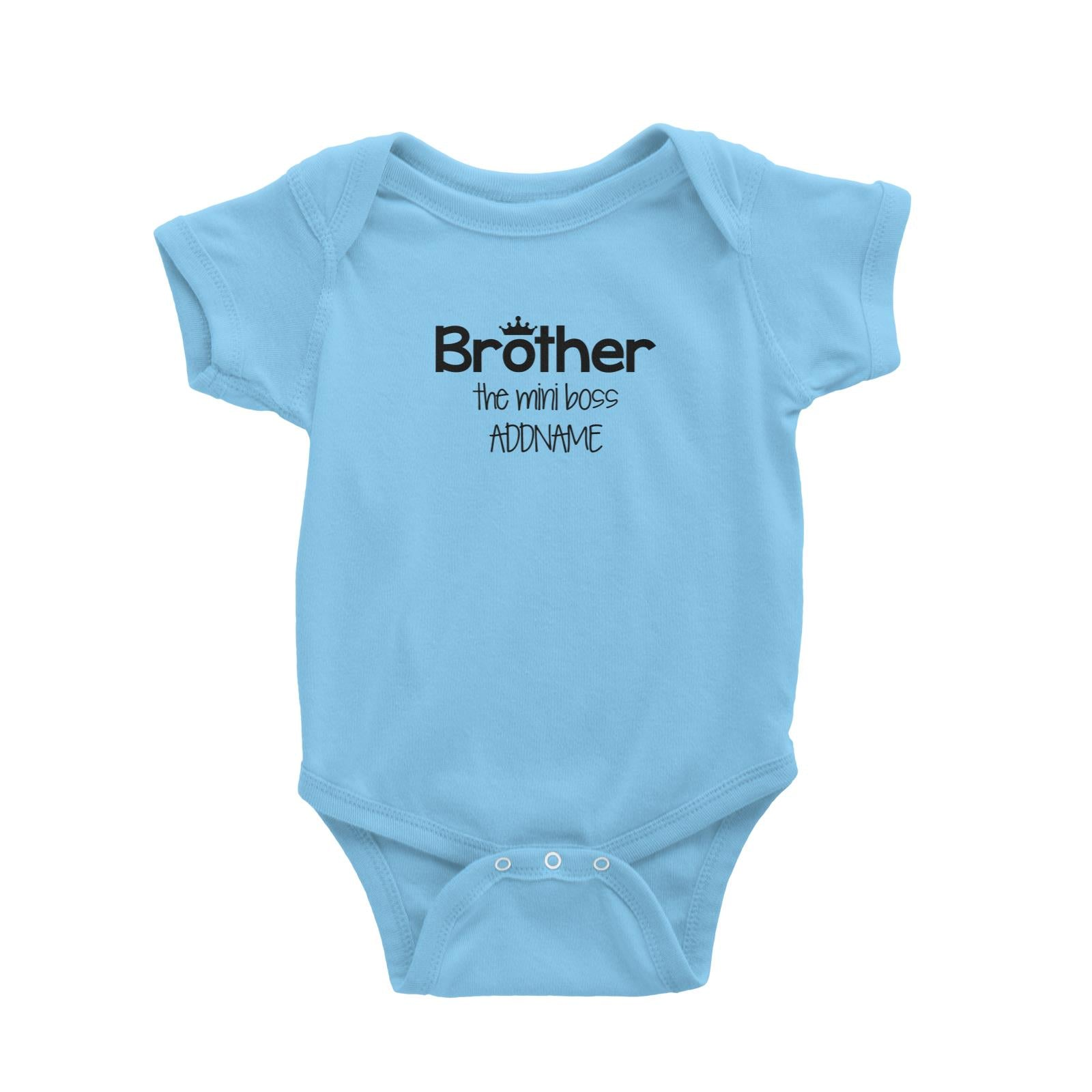 Brother with Crown The Mini Boss Baby Romper