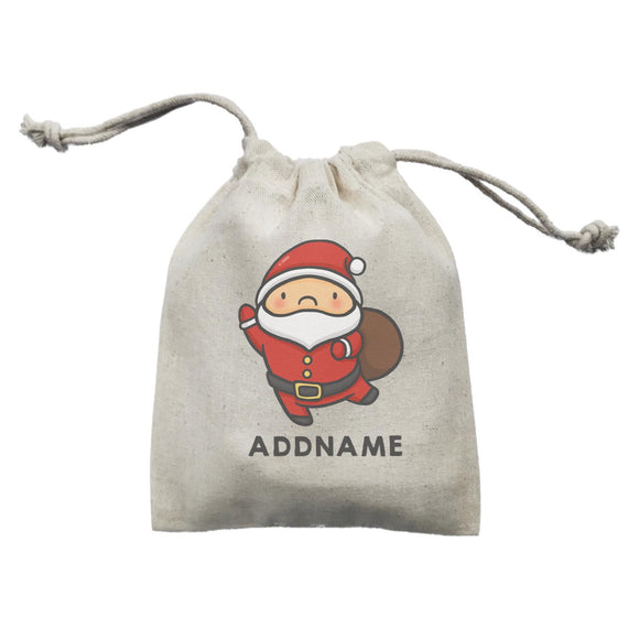 Xmas Cute Santa Claus Addname Mini Accessories Mini Pouch