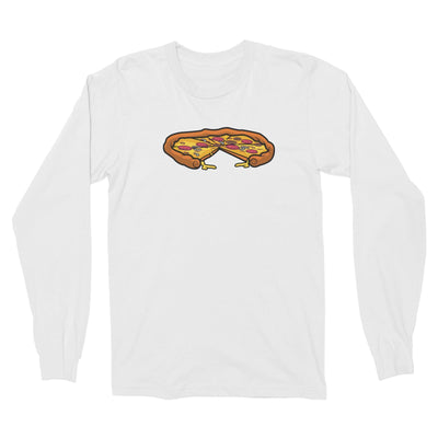 Fast Food Whole Pizza with A Slice Taken Out Long Sleeve Unisex T-Shirt  Matching Family Comic Cartoon