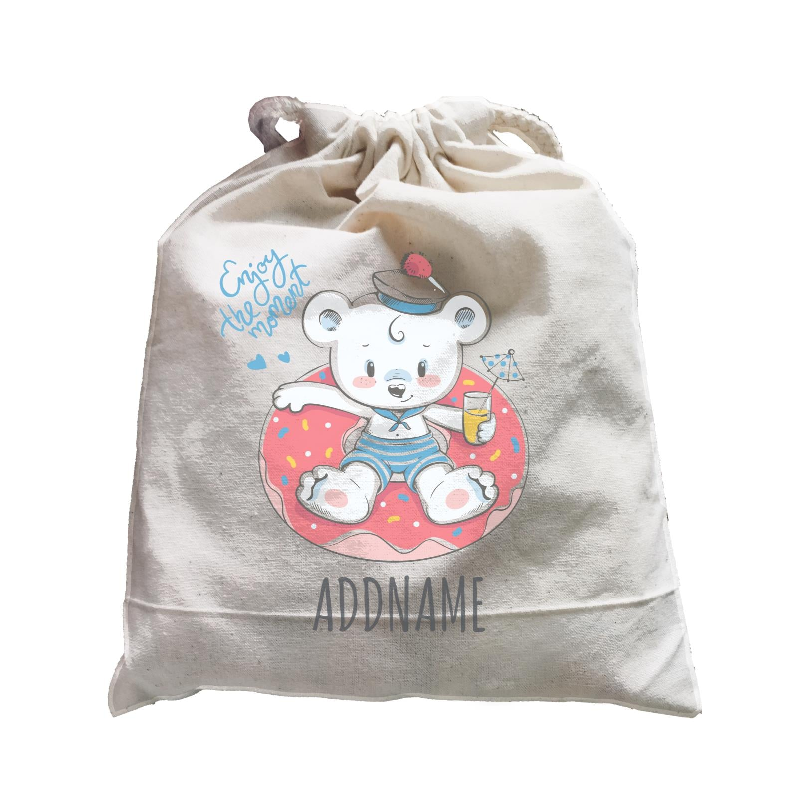 Sailor Bear on Float Satchel Personalizable Designs Cute Sweet Animal HG