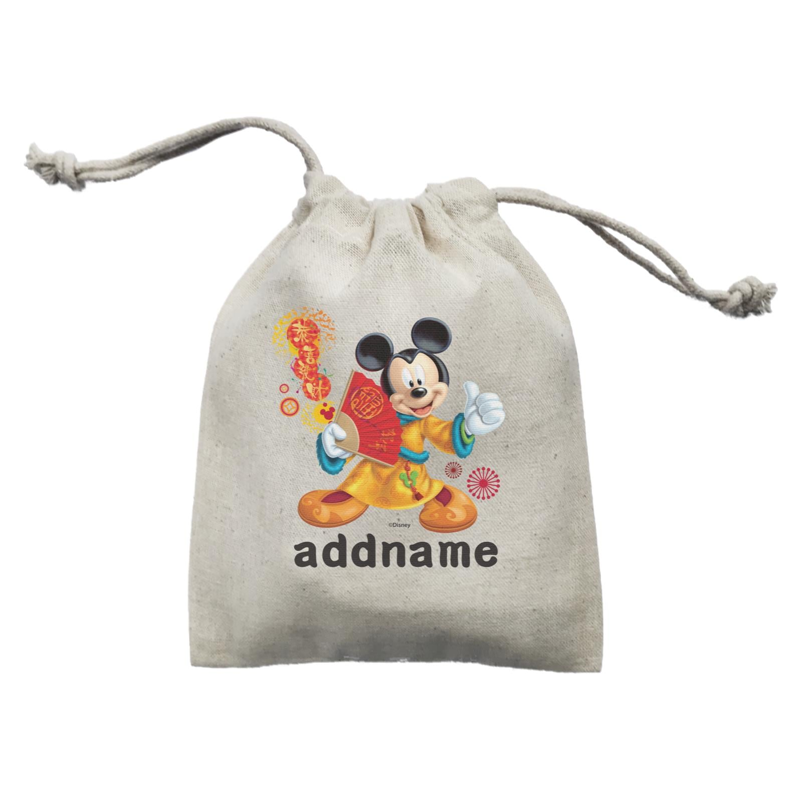 Disney CNY Mickey With Fan Personalised Mini Accessories Mini Pouch
