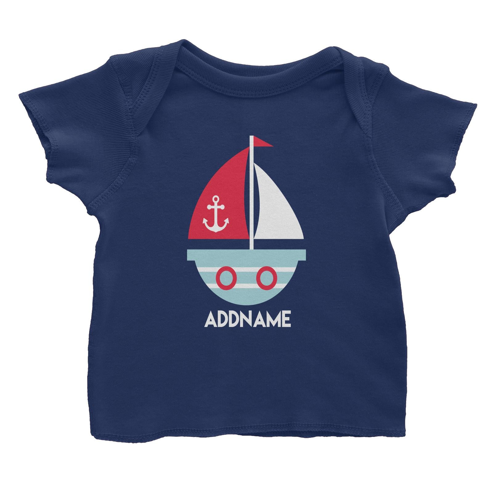 Sailor Boat Addname Baby T-Shirt  Matching Family Personalizable Designs