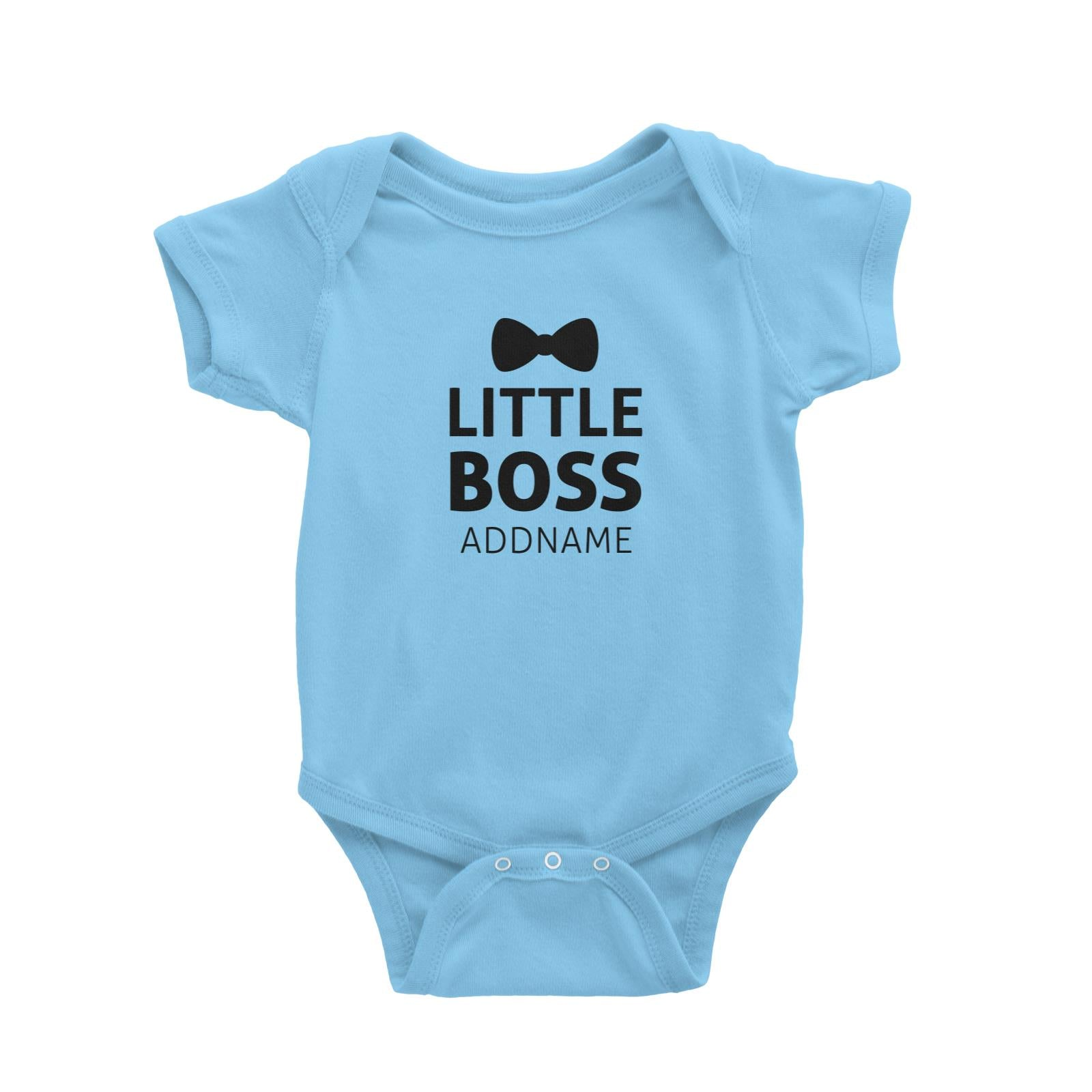 Little Boss With Bow Tie Baby Romper