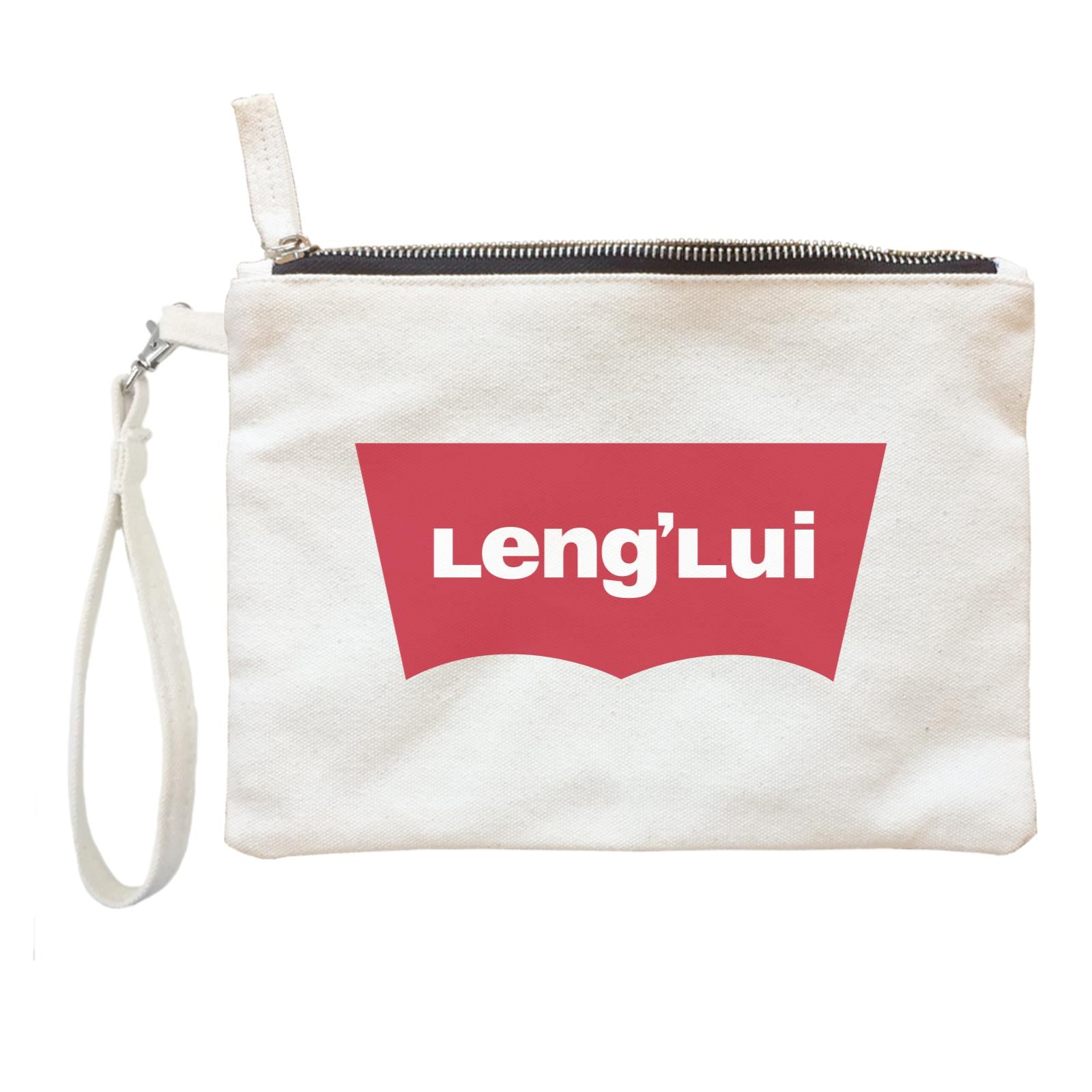 Slang Statement Lenglui Accessories Zipper Pouch with Handle