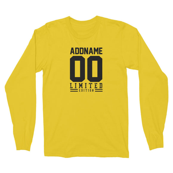 Limited Edition Jersey Personalizable with Name and Number Long Sleeve Unisex T-Shirt