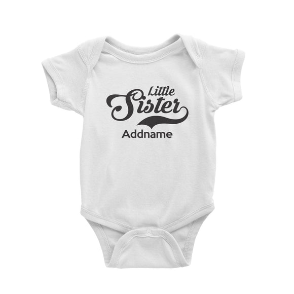 Retro Little Sister Addname Baby Romper