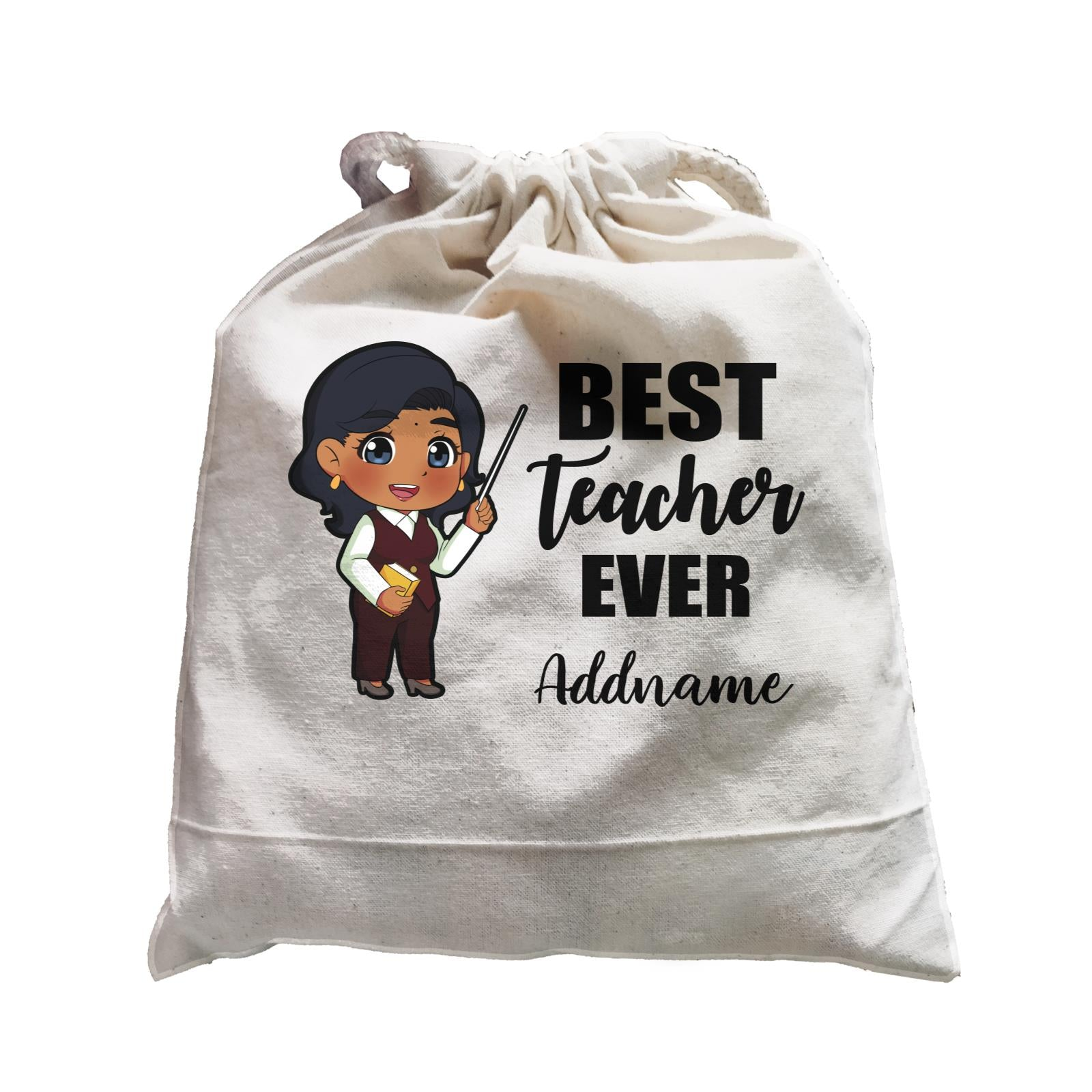 Chibi Teachers Indian Woman Best Teacher Ever Addname Satchel