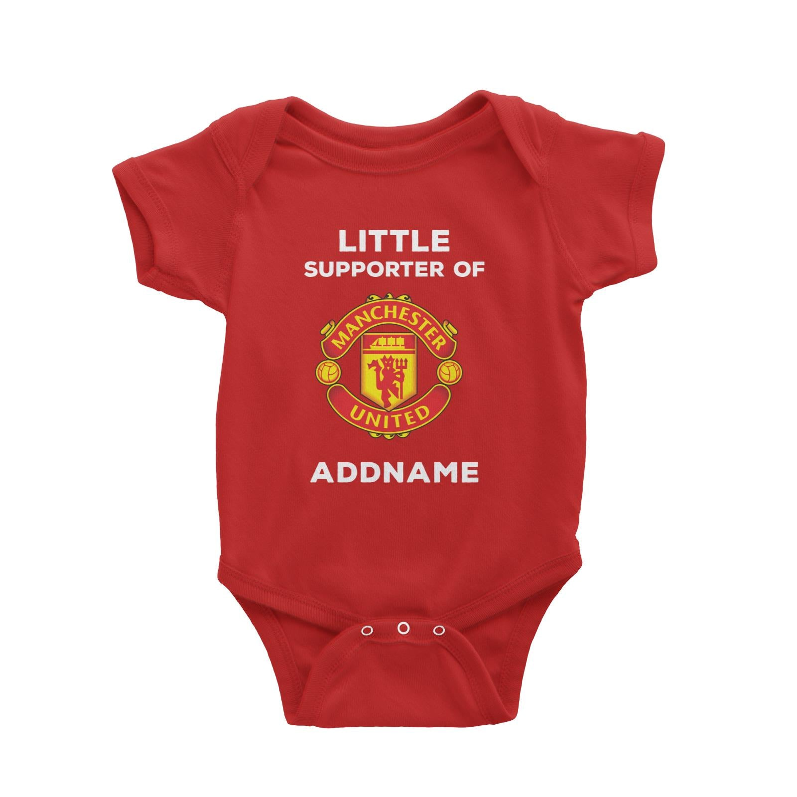 Manchester United FC Little Supporter Personalizable with Name Baby Romper