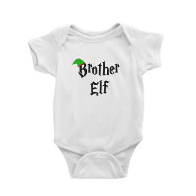 Brother Elf With Hat Baby Romper Christmas Matching Family