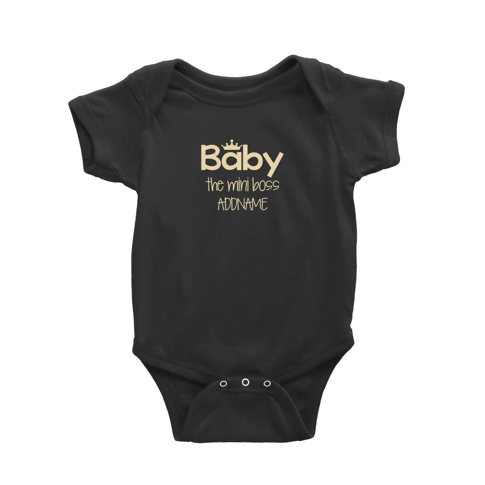 Baby with Crown The Mini Boss Baby Romper