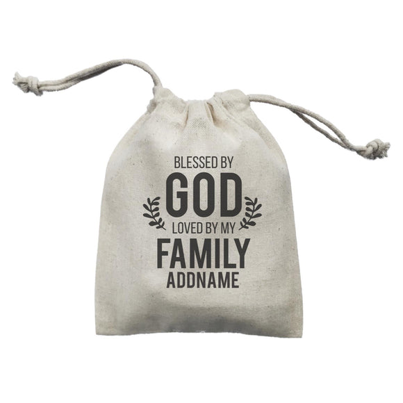Christian Series Blessed By God Love By My Family Addname Mini Accessories Mini Pouch