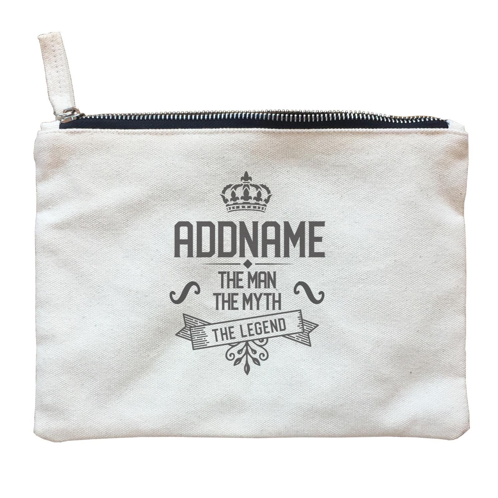Personalize It Birthyear Addname The Man The Myth with Add Year Zipper Pouch