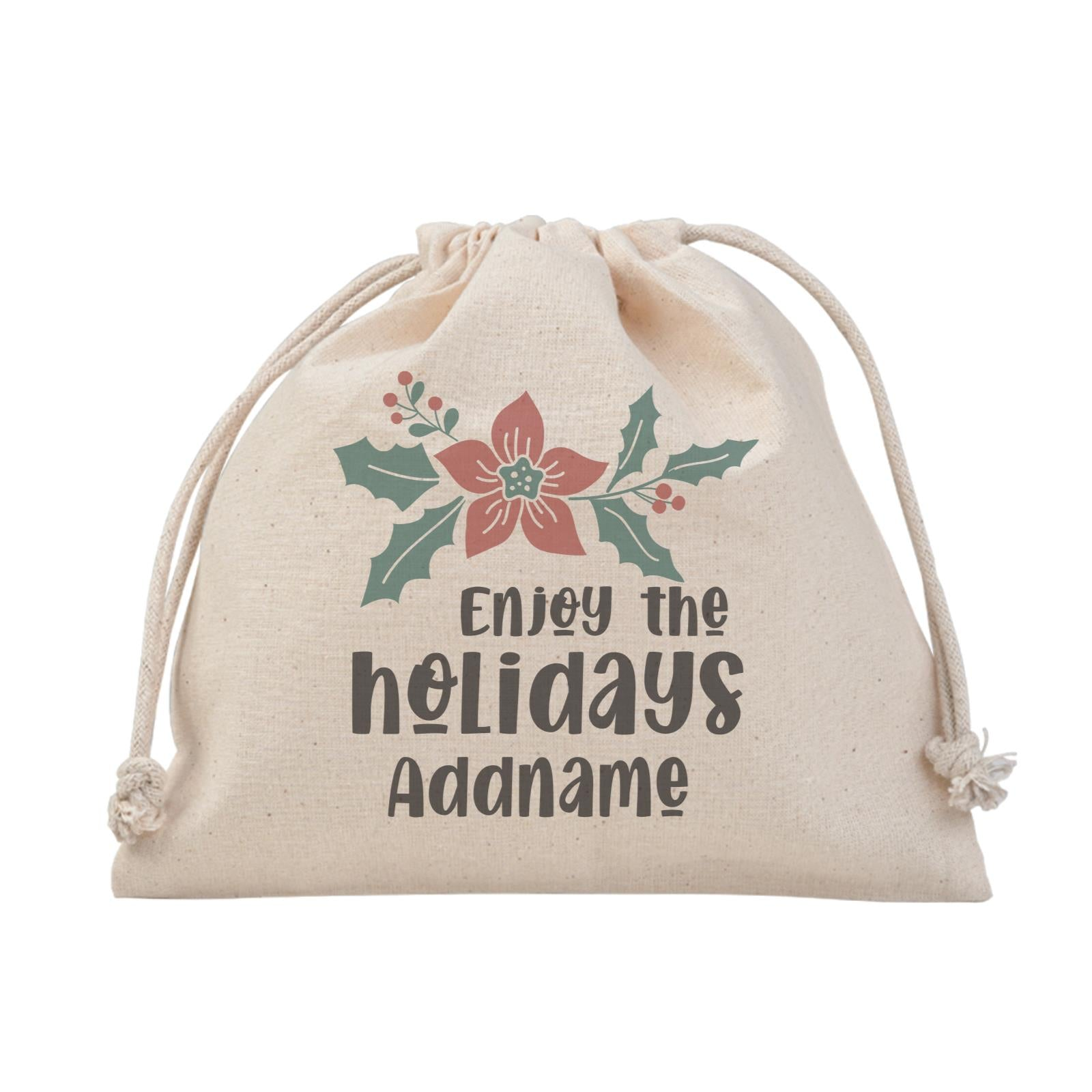 Christmas Series Holly Enjoy The Holidays Satchel