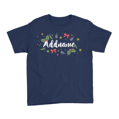 Christmas Elements Addname Kid's T-Shirt  Personalizable Designs Lettering Matching Family