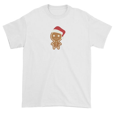 Cute Gingerbread Man with Santa Hat Unisex T-Shirt Christmas Matching Family Funny