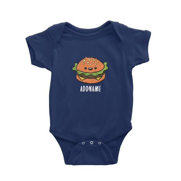 Fast Food Burger Addname Baby Romper  Matching Family Comic Cartoon Personalizable Designs