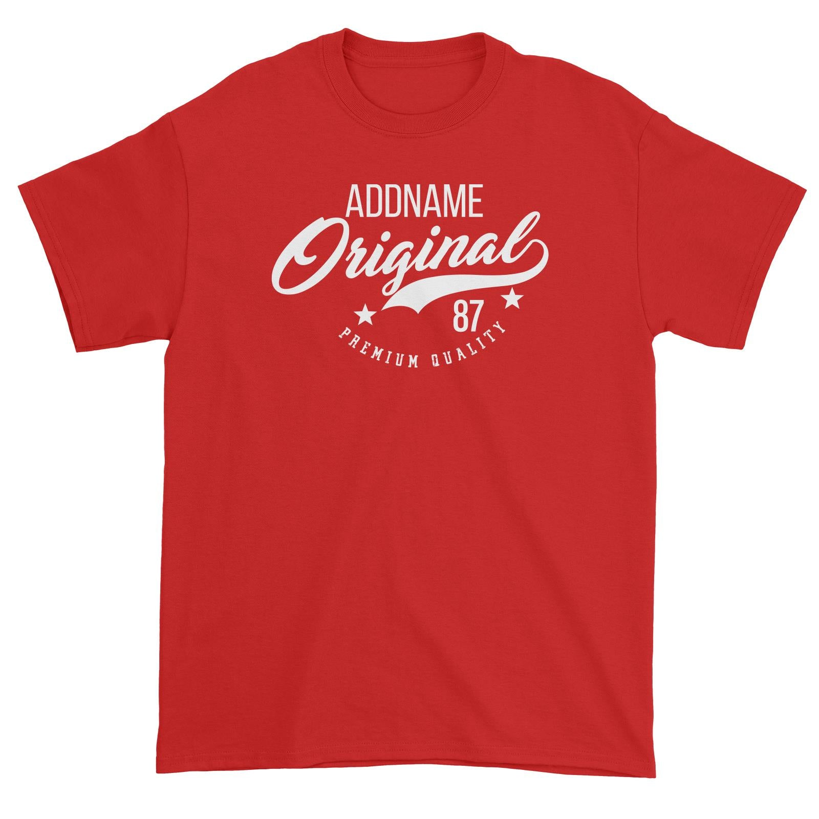 Original Premium Quality Personalizable with Name and Number Unisex T-Shirt