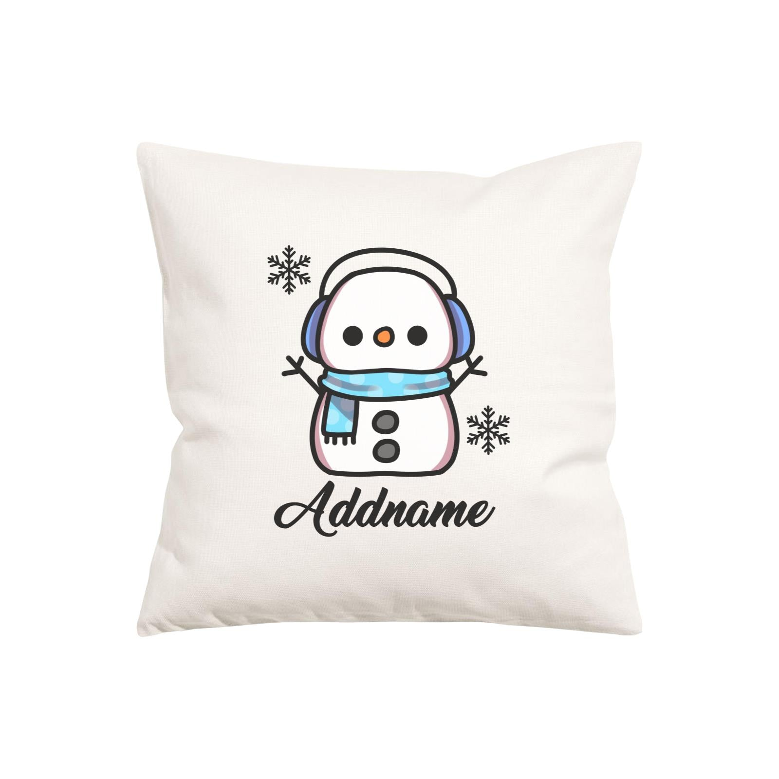 Xmas Little Boy Snowman Pillow Pillow Cushion