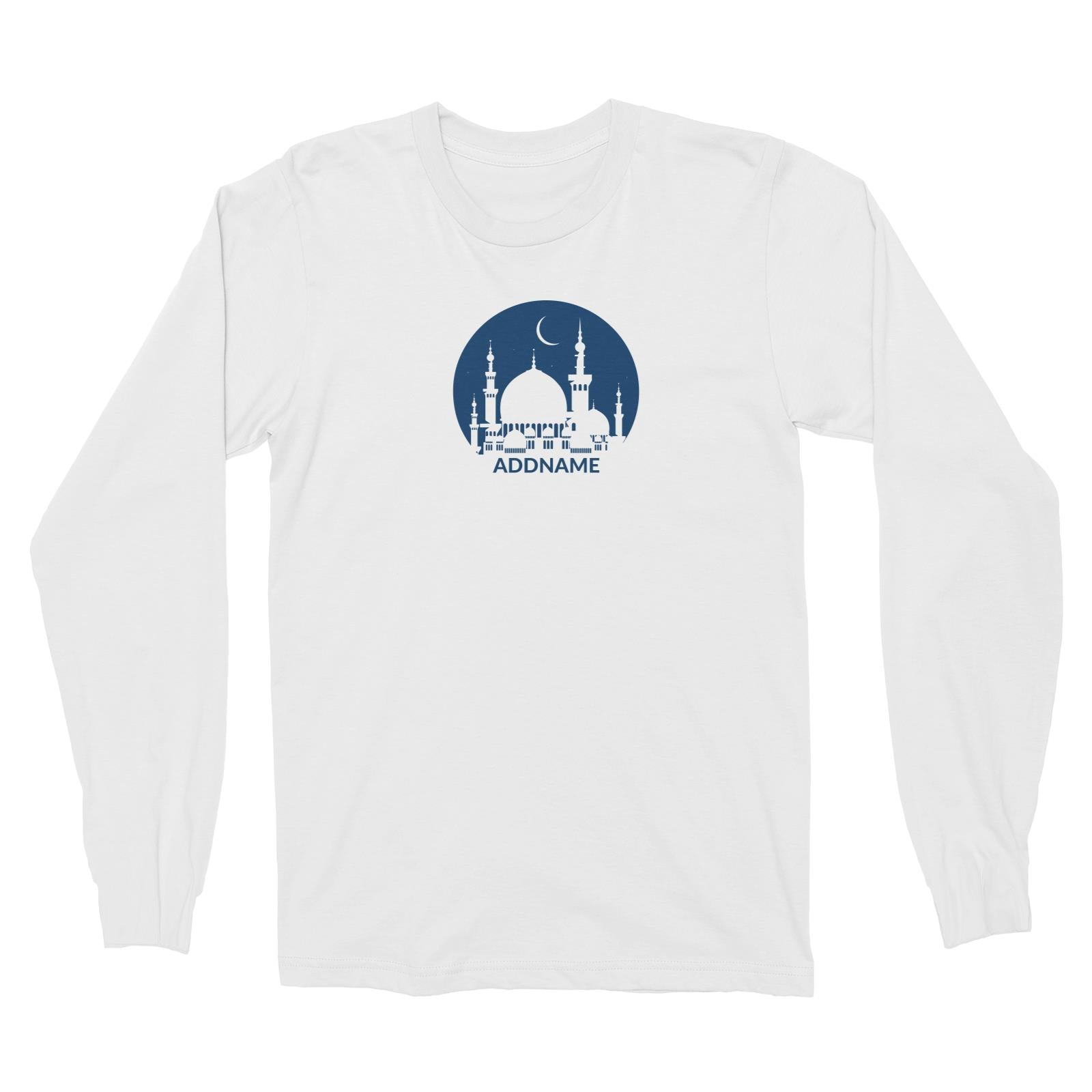 Mosque Moon Long Sleeve Unisex T-Shirt Raya Personalizable Designs