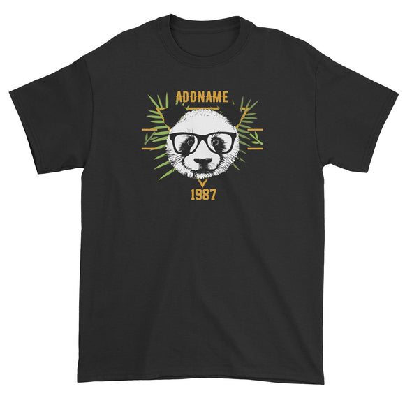 Jersey Panda With Glasses Personalizable with Name and Year Unisex T-Shirt