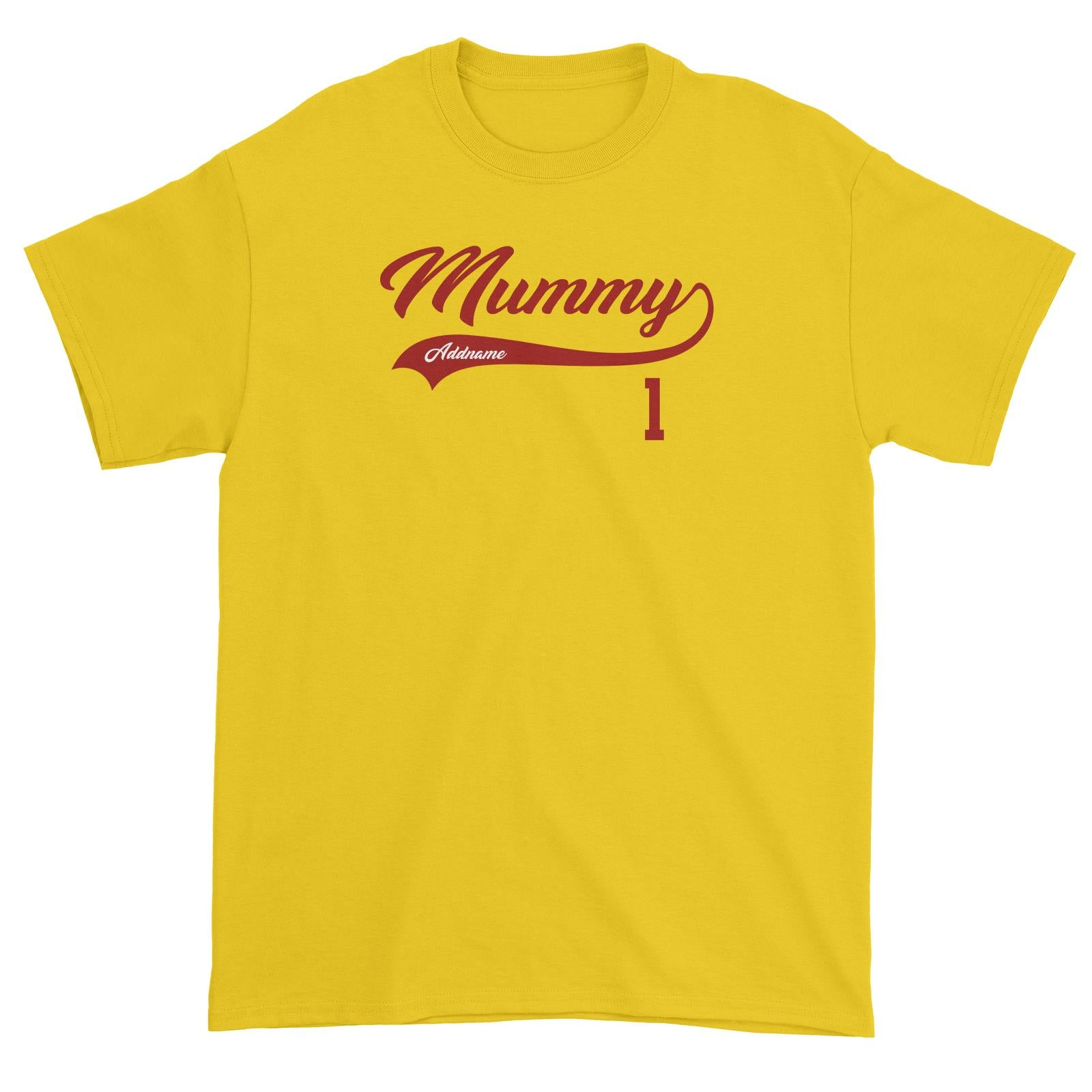 Mummy Retro No 1 Baseball Team Unisex T-Shirt