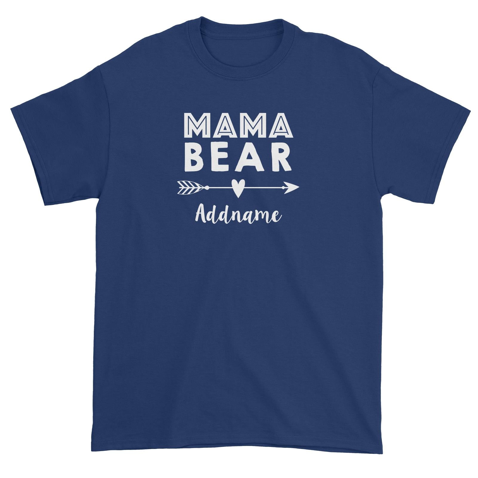 Mama Bear Addname Unisex T-Shirt  Matching Family Personalizable Designs