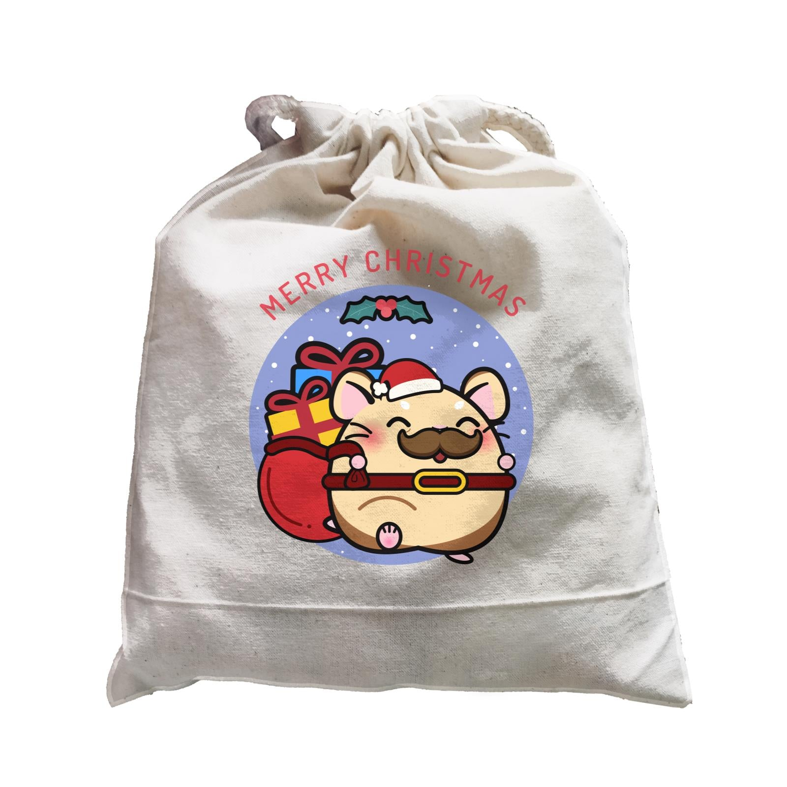 Merry Christmas Cute Santa Father Hamster Satchel