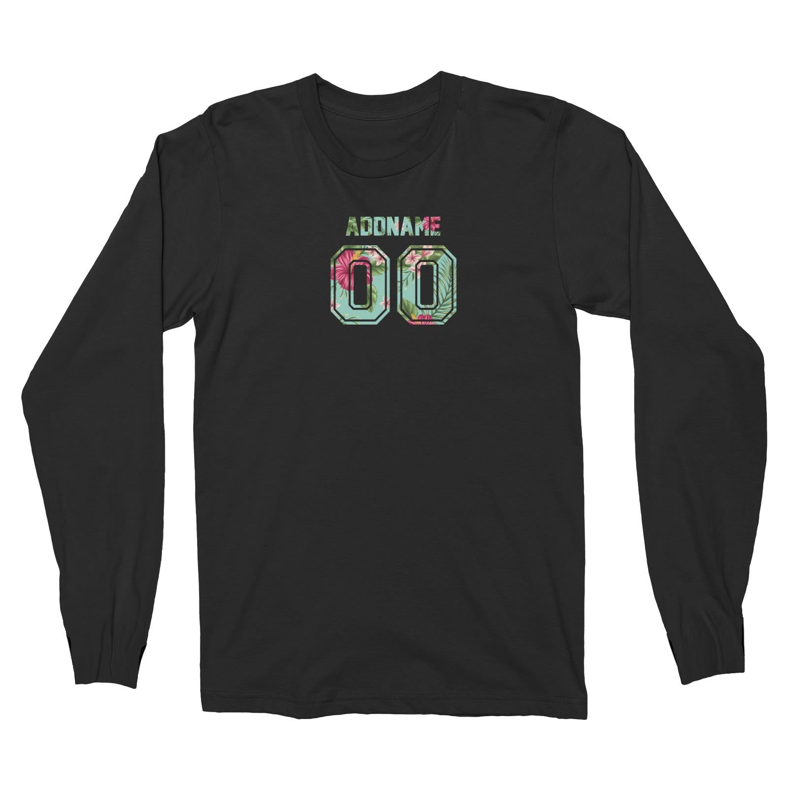 Jersey Bunga Raya Long Sleeve Unisex T-Shirt  Personalizable Designs