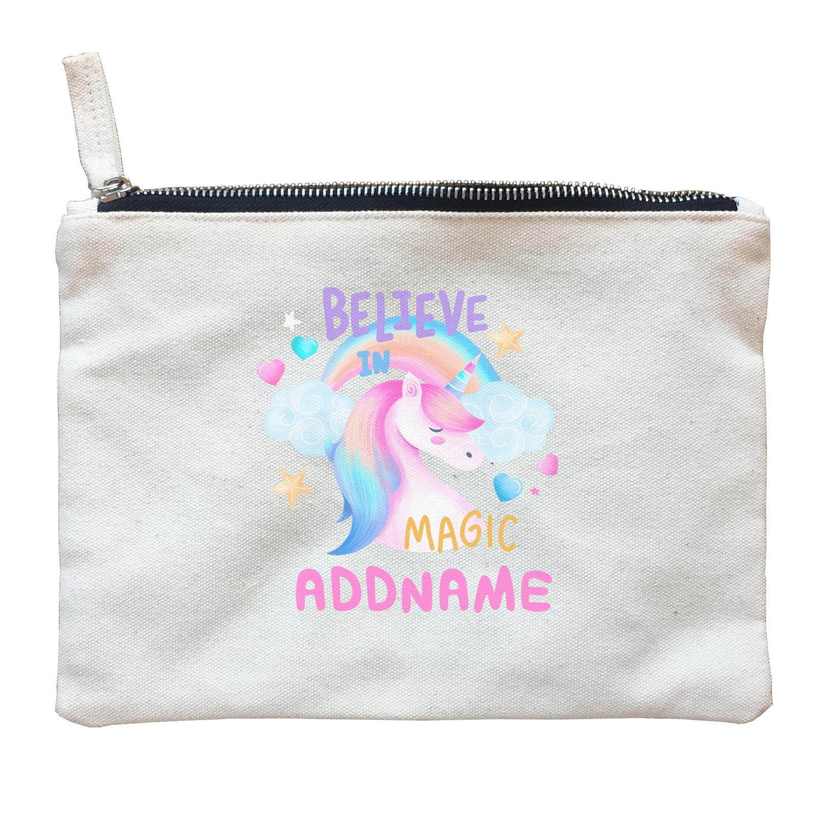 Children's Day Gift Series Believe In Magic Unicorn Addname  Zipper Pouch