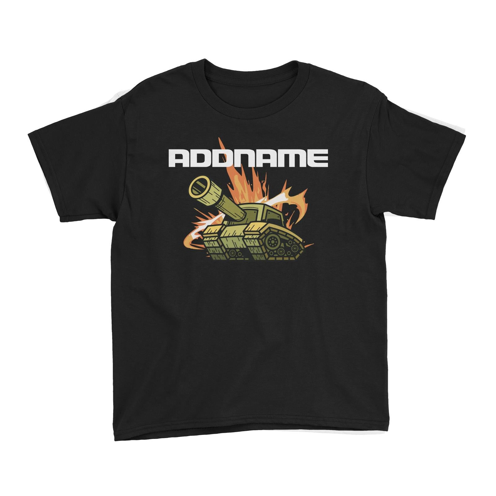Birthday Battle Theme Tank Addname Kid's T-Shirt