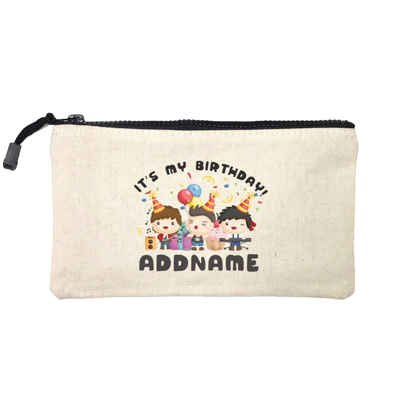 Birthday Music Band Boy Group It's My Bitrhday Addname Mini Accessories Stationery Pouch