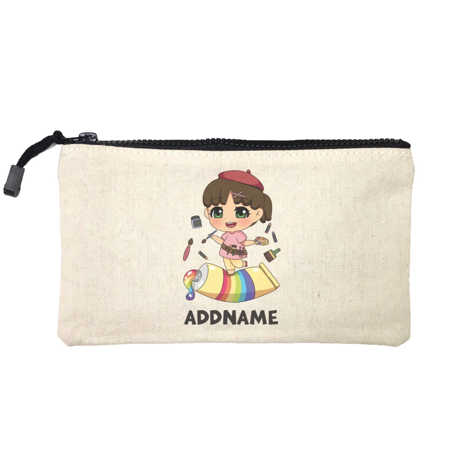Children's Day Gift Series Artist Little Girl Addname SP Stationery Pouch