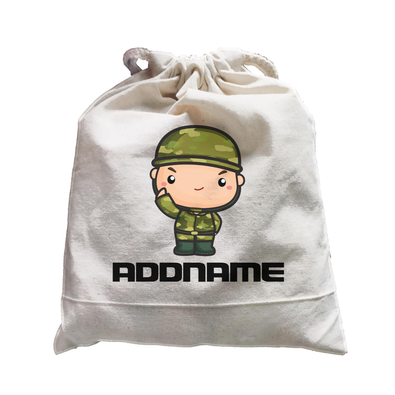 Birthday Battle Theme Army Soldier Boy Addname Satchel