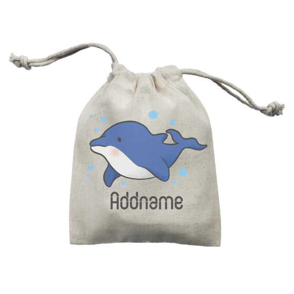 Cute Hand Drawn Style Dolphin Addname Mini Accessories Mini Pouch